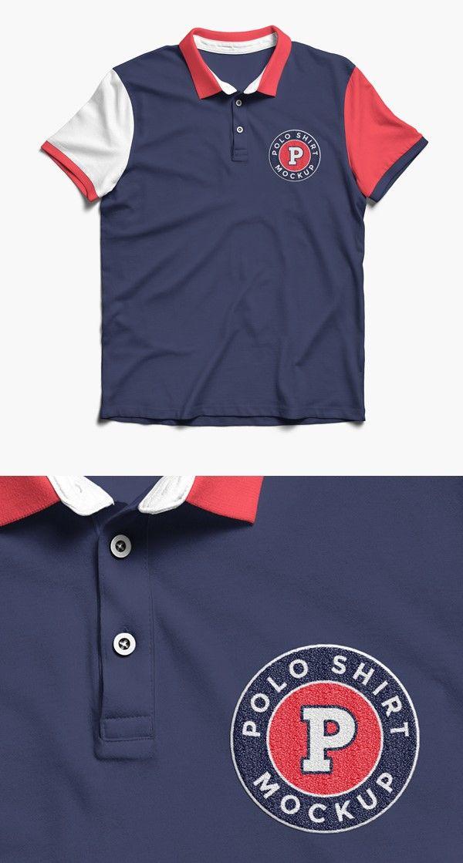 recursos-gráficos-gratuitos-para-diseñadores-camiseta-polo-PSD
