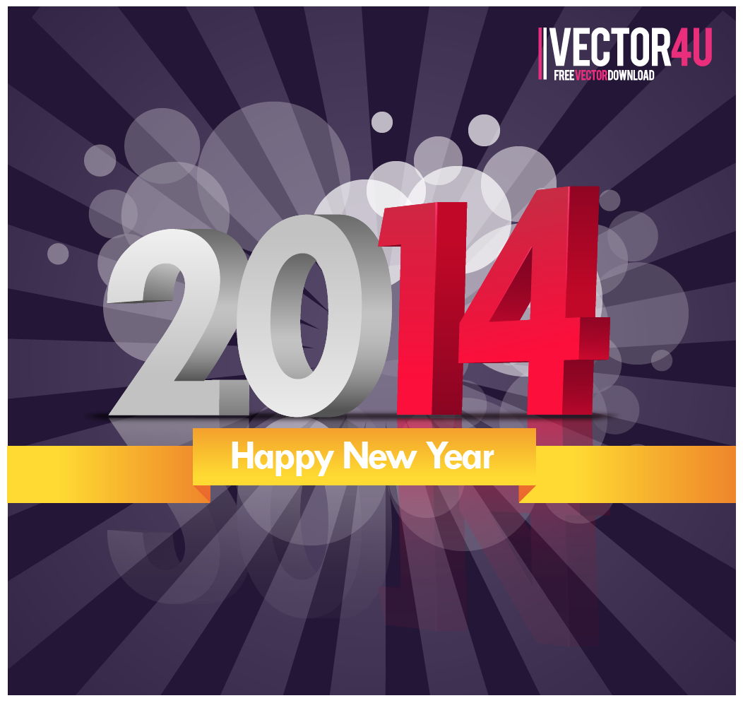 new year 2014 abstract vector author vector4u com link file happy new . 1052 x 995.Happy New Year 2014 Graphic