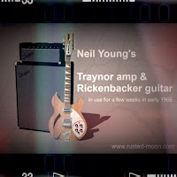 Neil Young Rickenbacker guitar, Traynor amp