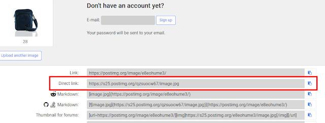 Cara mendapatkan Link Gambar Produk untuk Mass Upload