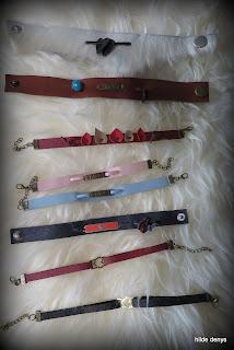 LoveLea's leather Valentine bracelets