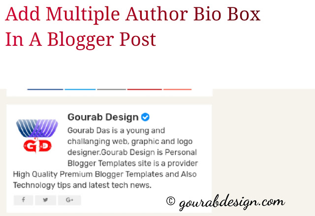 Install multiple author bio box in blogger