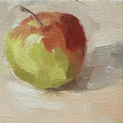 Daily Painting #18 'Little Braeburn' 4×4″