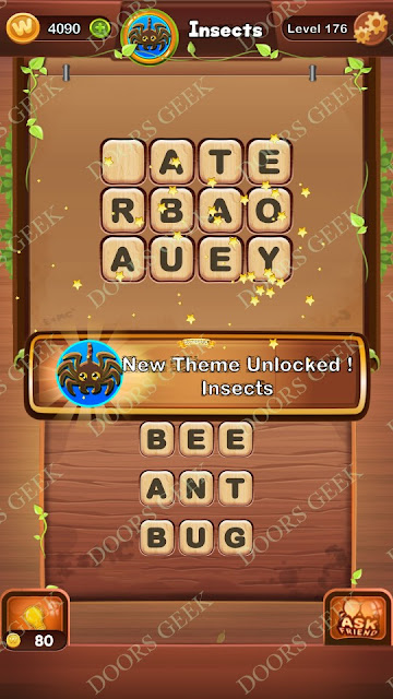 Word Bright Level 176 Answers, Cheats, Solutions, Walkthrough for android, iphone, ipad and ipod