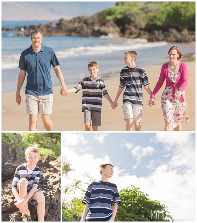Maui morning family portrait photographer