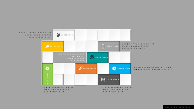Square Block Diagram Infographics PowerPoint Slide Type C