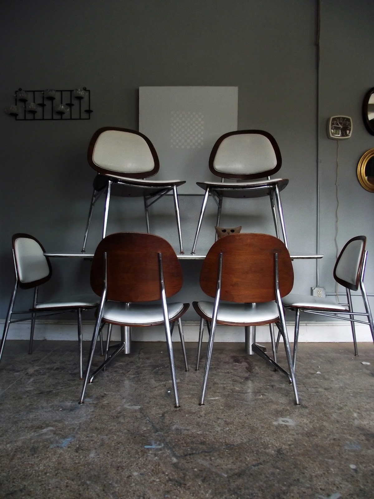 white metal and wood chairs small recliner chair vintage ground awesome mid century