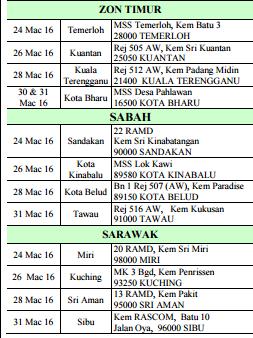 sesi pemilihan tentera darat malaysia 2016