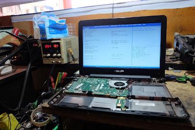Service Laptop Asus x455yl mati total