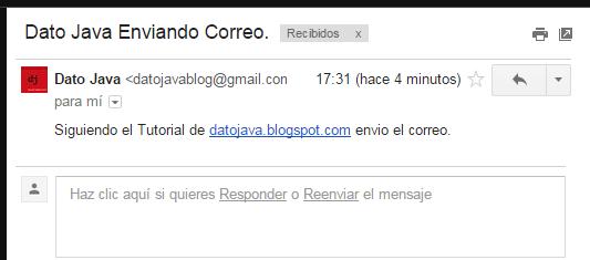 Contenido Del Correo JavaMail