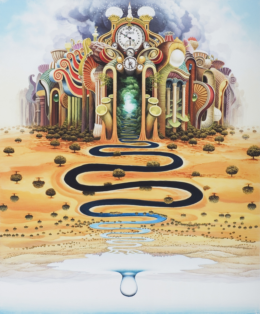 10-Flumen-Temporis-Flood-Season-Jacek-Yerka-Surrealism-in-Dreamlike-Oil-Paintings-www-designstack-co