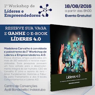 Madalena Carvalho no 1º Workshop de Líderes e Empreendedores 4.0 de Indaiatuba e região