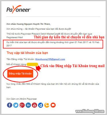Hình 4.4: Email thông báo tài khoản của bạn đã được duyệt