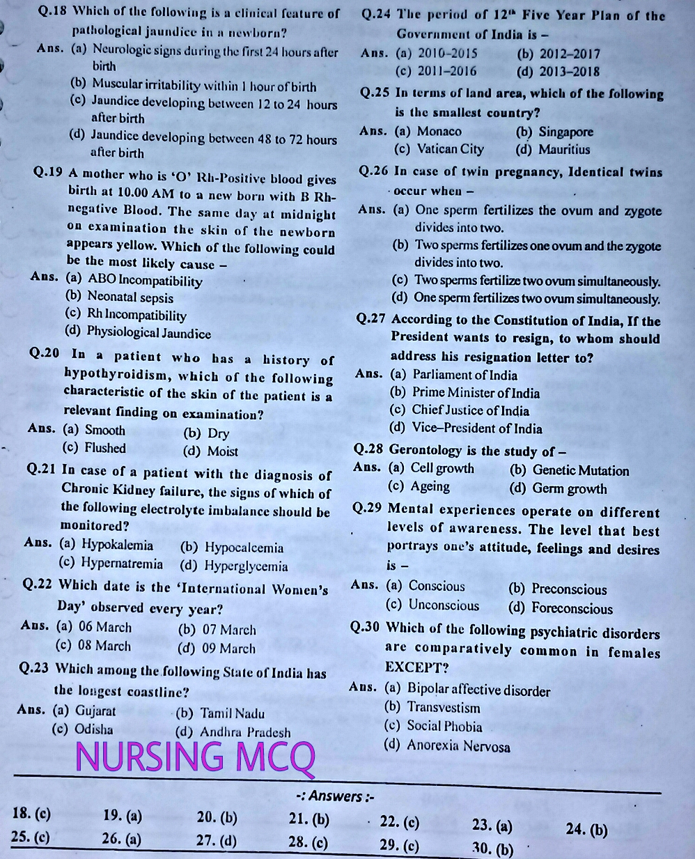 staff nurse competitive exam books pdf