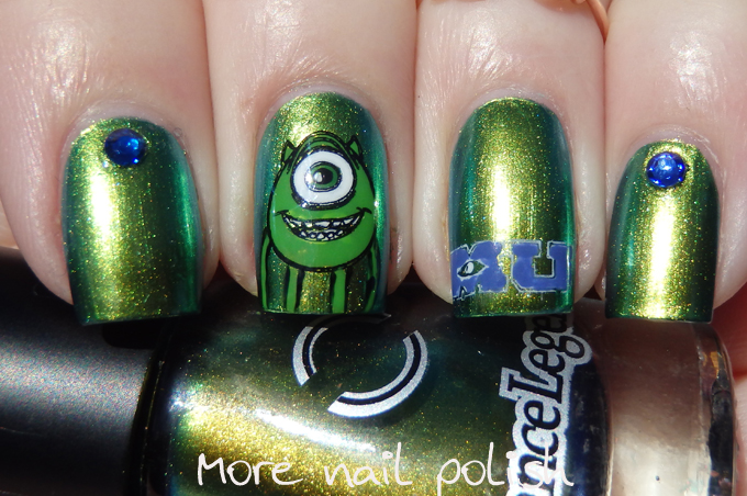 31DC2014 Day 04: Green - Monster Wazowski ~ More Nail Polish