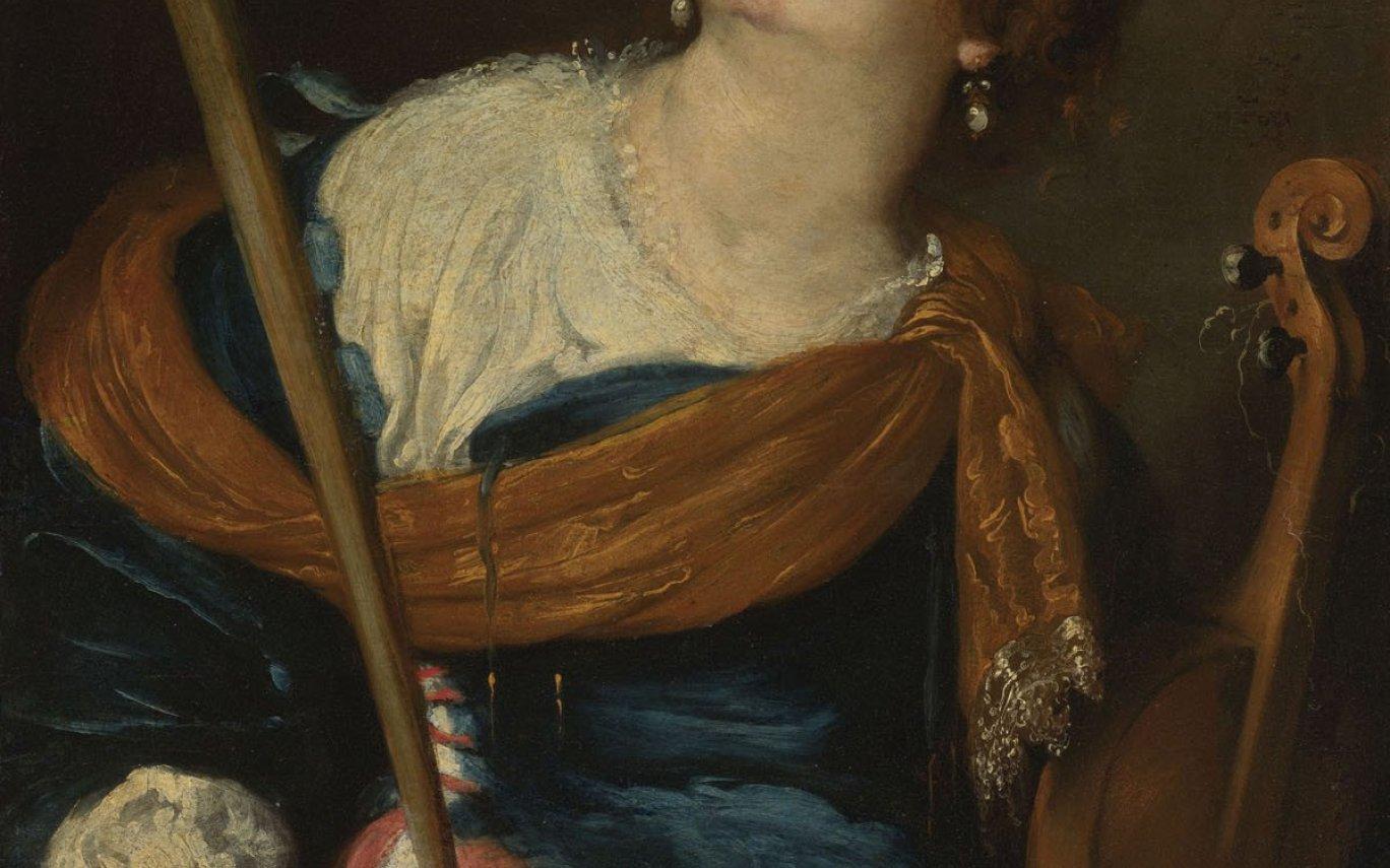 ernardo Strozzi Saint Cecilia detail