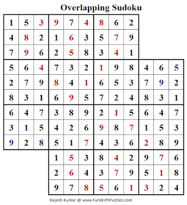 Overlapping Sudoku (Fun With Sudoku #157) Puzzle Solution