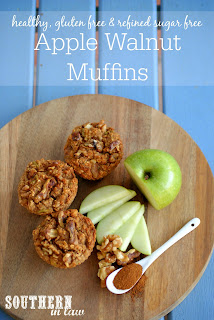 Gluten Free Apple Walnut Muffins Recipe