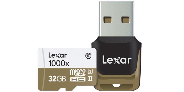 レキサーのマイクロSDカード「>Lexar Professional 1000x microSDカード」を使用レビュー