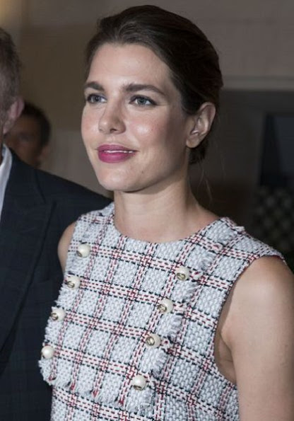 Charlotte Casiraghi attends the 4O Rue de Sevres : Preview at the Head Offices of Both Kering and Balenciaga. building.