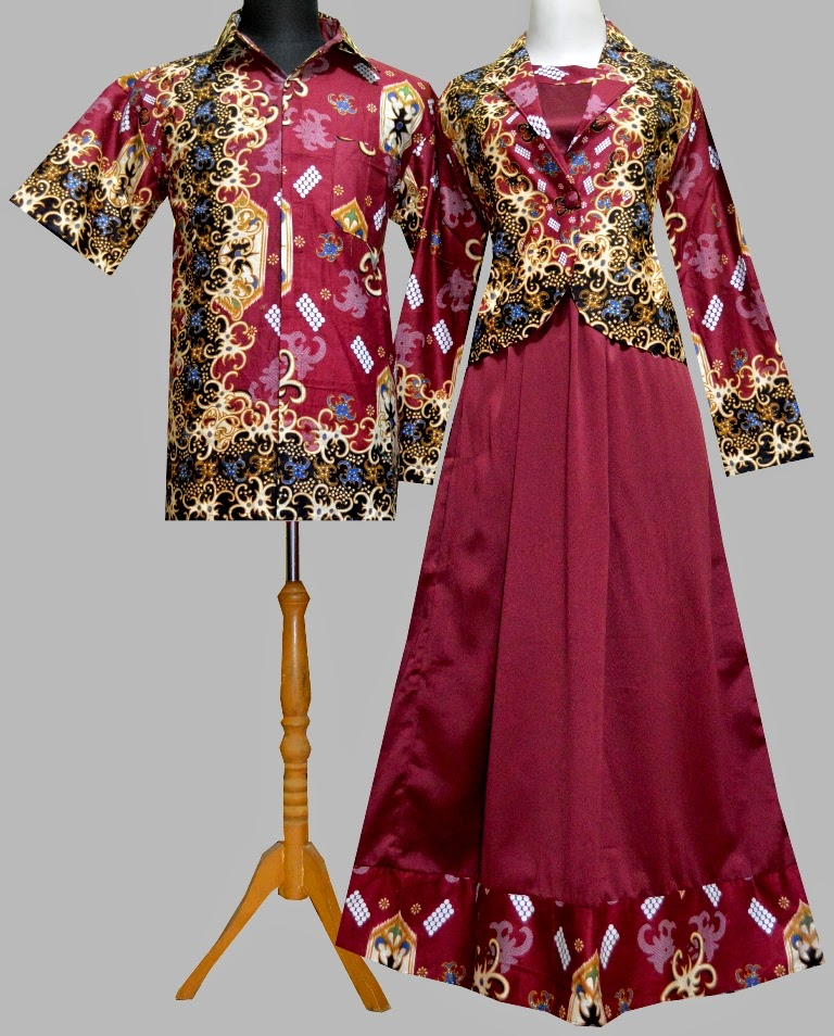 Model Gamis Batik Kombinasi Blazer 2017 Trend Fashion Indonesia