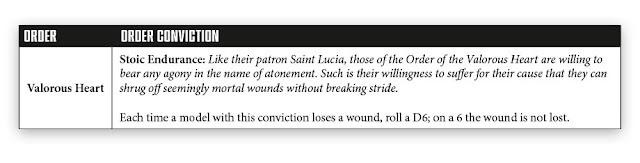 Convicciones Orden Adepta Sororitas