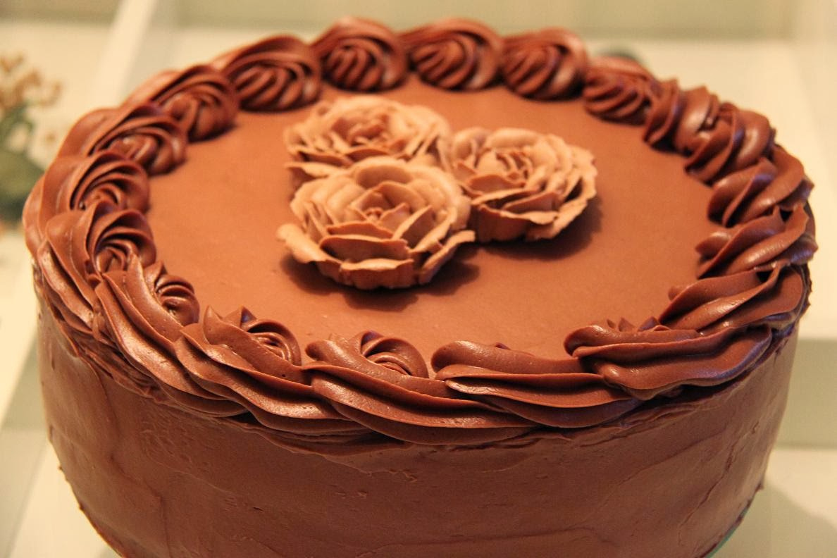 recept chokladtårta smörkräm