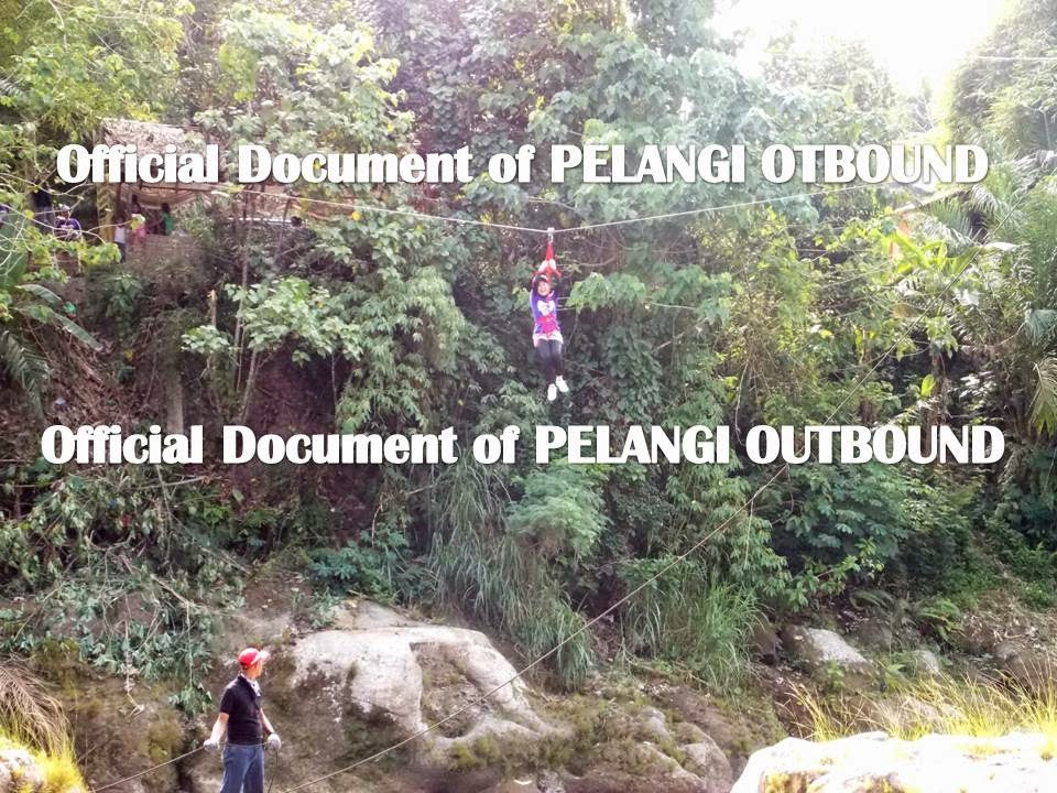 Flying fox Pelangi Outbound Medan
