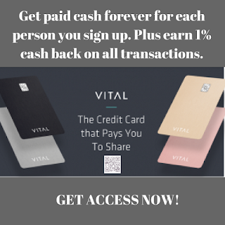 Work At Home, CreditCard, CashBack, Cash ReWards, MLM MARKETING, Side job, Extra Income, Vital Card, Free Cash Every Month with VITAL Card. frugal mom