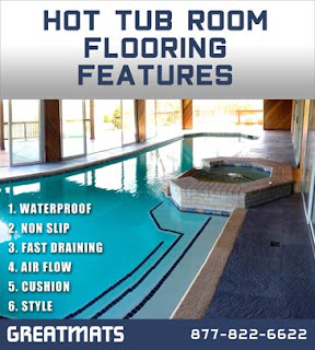 Greatmats Hot Tub Flooring Features infographic