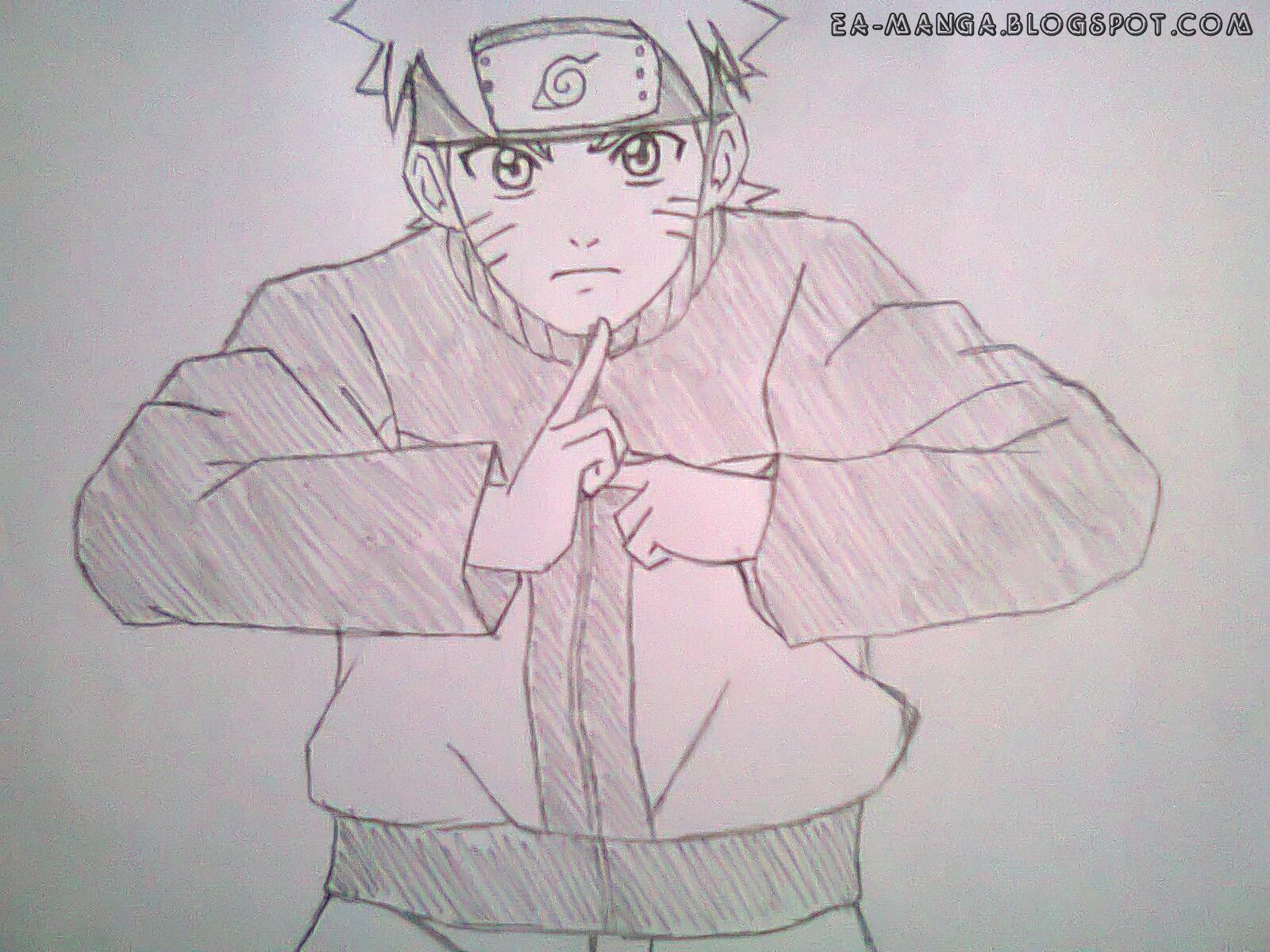 Cara Menggambar Naruto Uzumaki | Manga Council