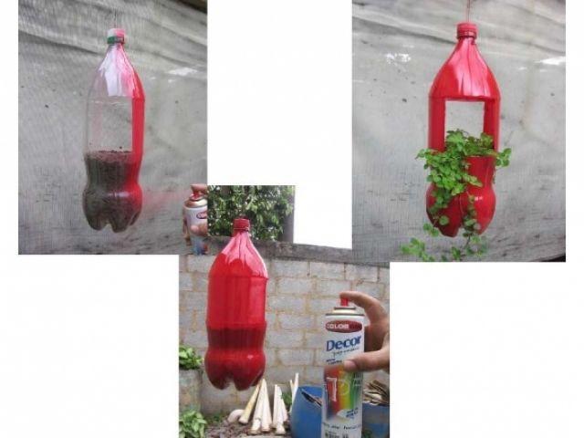 Aparador Ingles Significado ~ Como fazer um vaso de garrafa PET passo a passo Artesanatos Reciclagem