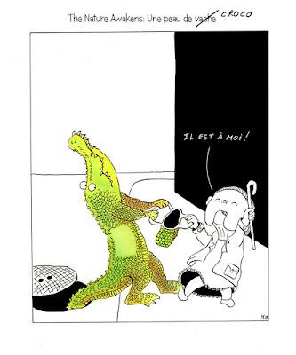 the nature awakens, commerce des peaux de bête, crocodile, malric