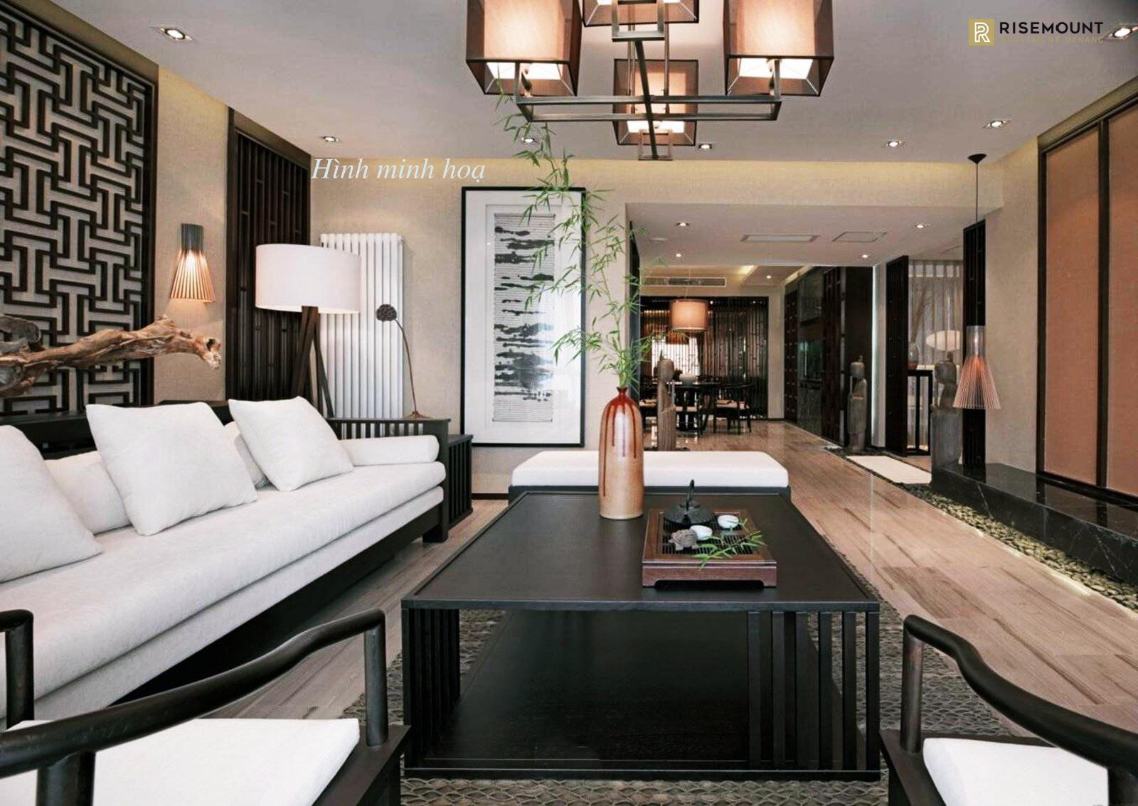 Phòng khách dự án Risemount Apartment
