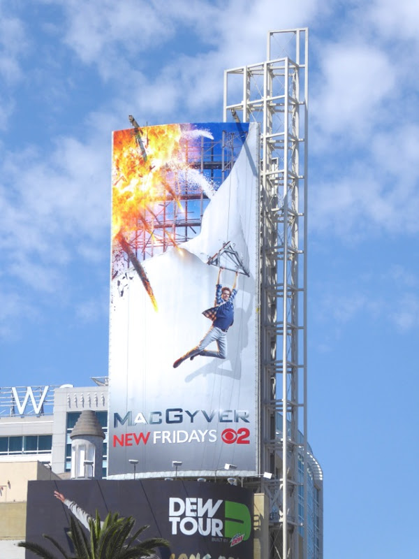 MacGyver series launch billboard