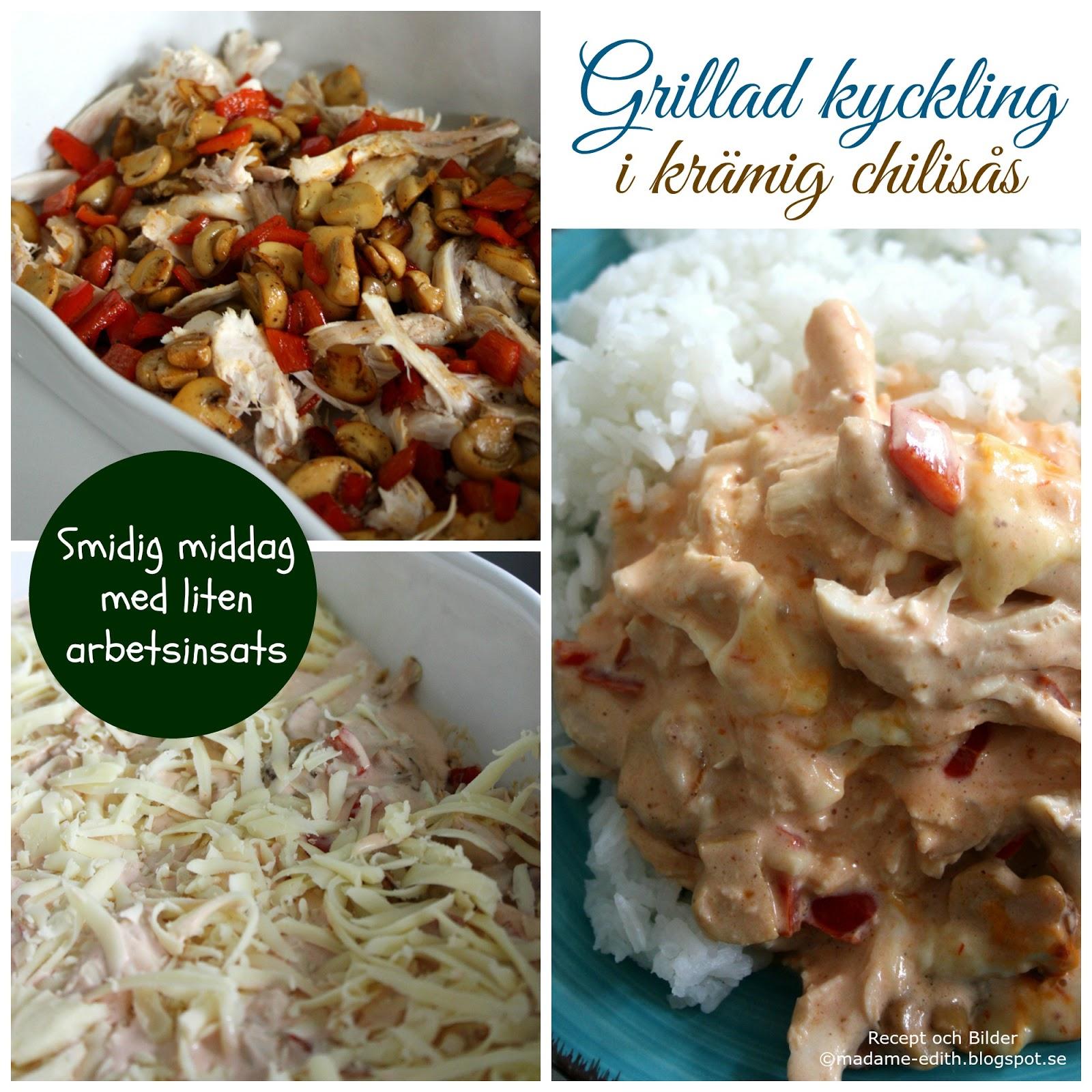 Grillad kyckling med caesarpotatissallad