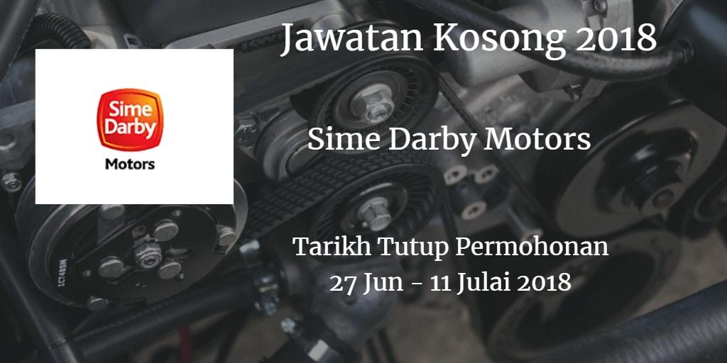 Jawatan Kosong Sime Darby Motors 27 Jun - 11 Julai 2018