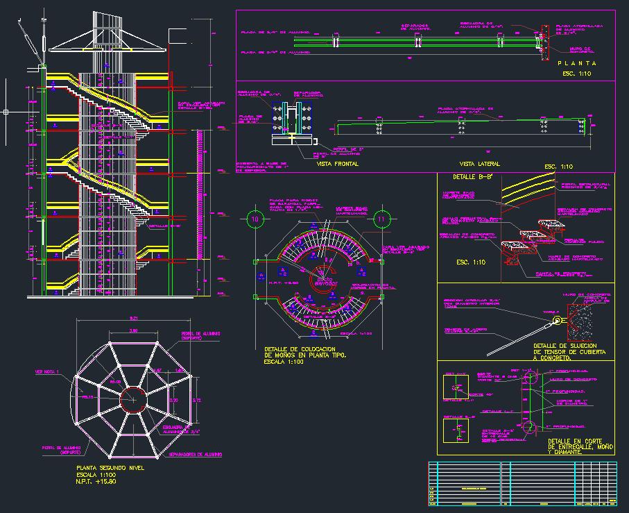 Dise o de escalera circular dwg aporte a la ingenier a for Planos de escaleras de concreto armado