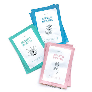 Bonvivant Botanical Mask Pack in Aloe, Rose, and Mint and Teatree