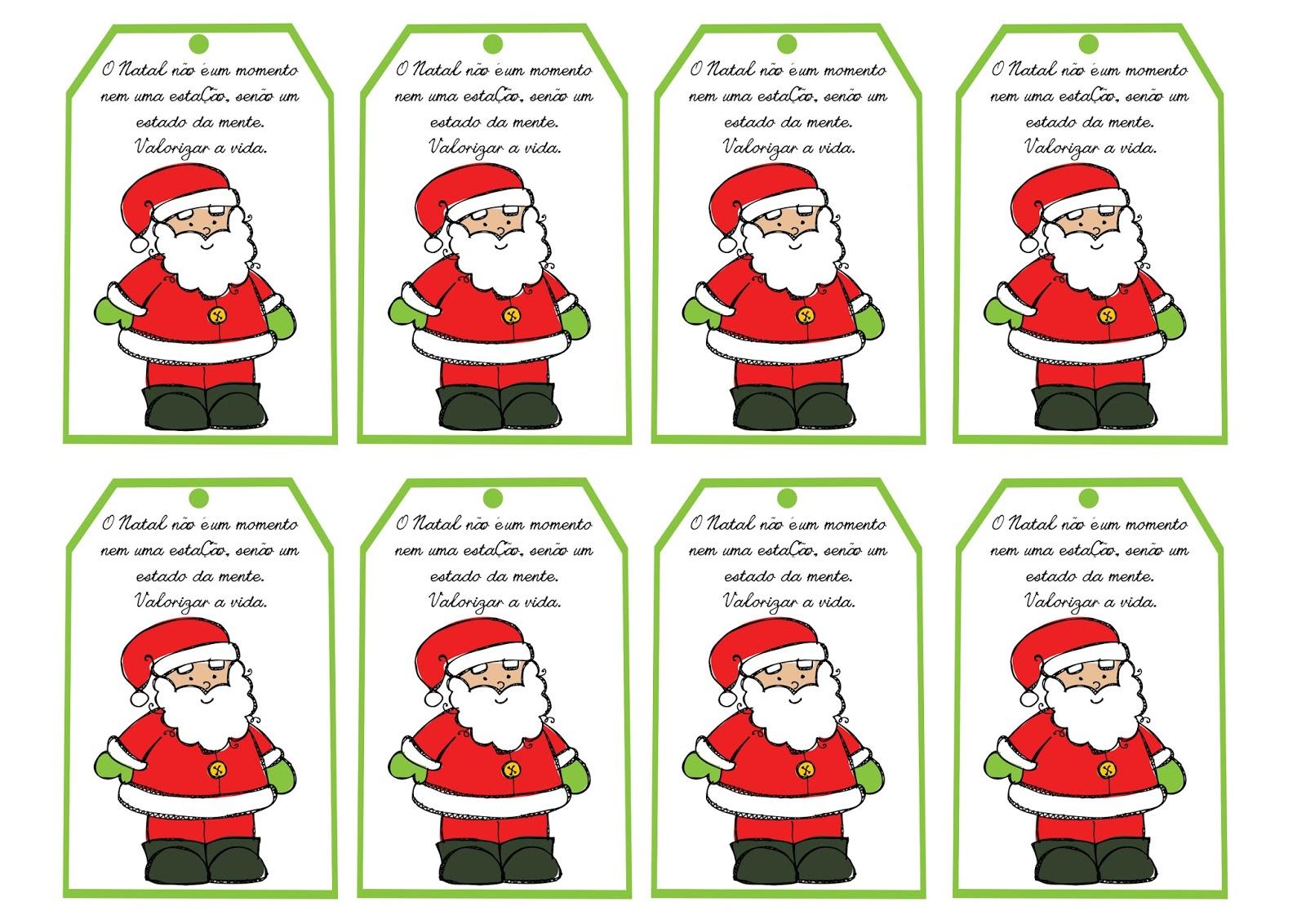 Amado Cartões de Natal para Imprimir com Mensagens. - Aprender e Brincar PH46