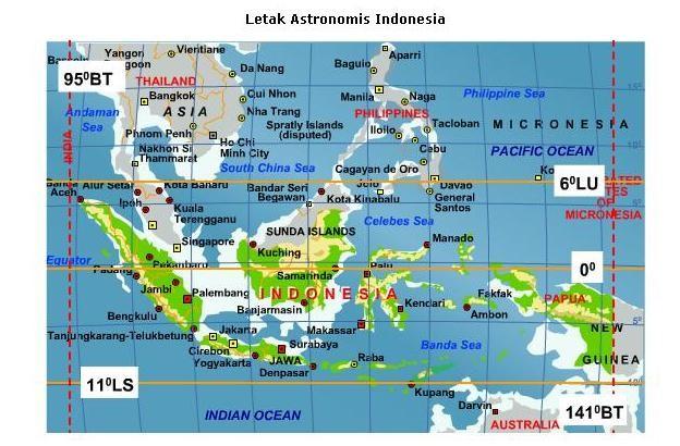 Materi Kelas 7 Letak Dan Luas Wilayah Indonesia