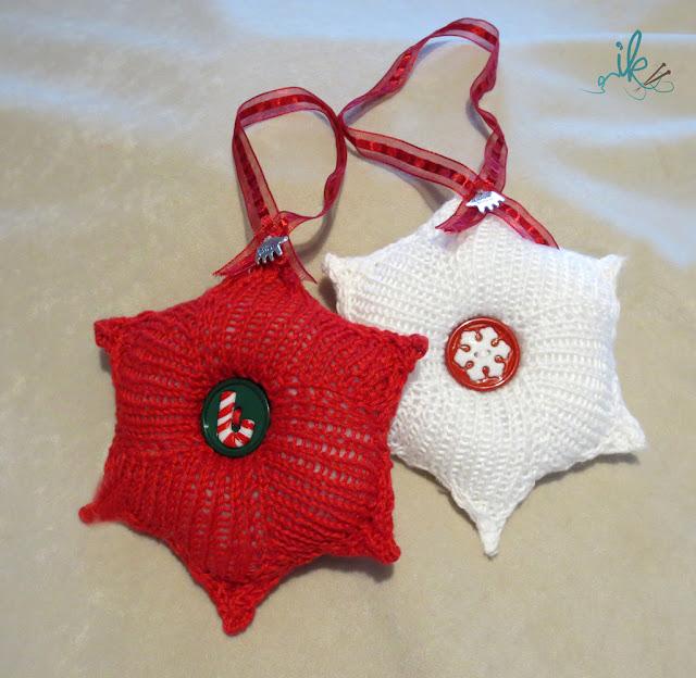 Weihnachtssterne stricken