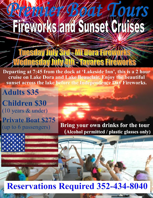 Fireworks Cruises, July 3rd & 4th 2018