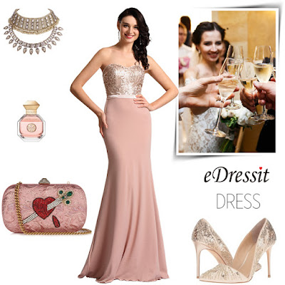Strapless Sweetheart Pink Bridesmaid Dress Formal Dress