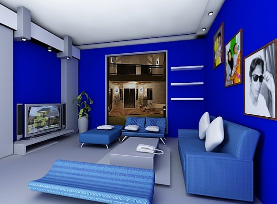 Living Room Design: Blue Living Room Colors Ideas
