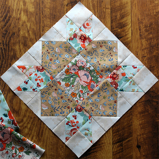 Weathervane Block Free Pattern designed by Maureen of Maureen Cracknell Handmade