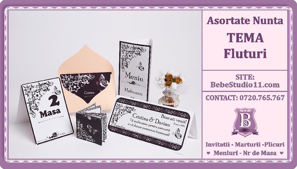Bebestudio11com Invitatii Nunta Si Botez Asortate Nunta Tema