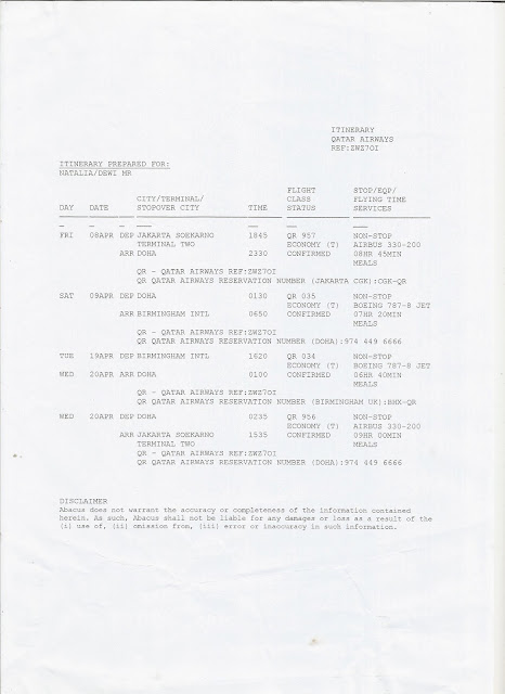 Tiket Pesawat Jakarta-Birmingham Qatar Airways