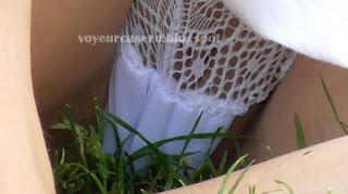 descuido mujer hot calzon blanco