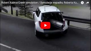Robert Kubica Crash simulation / Symulacja wypadku Roberta Kubicy